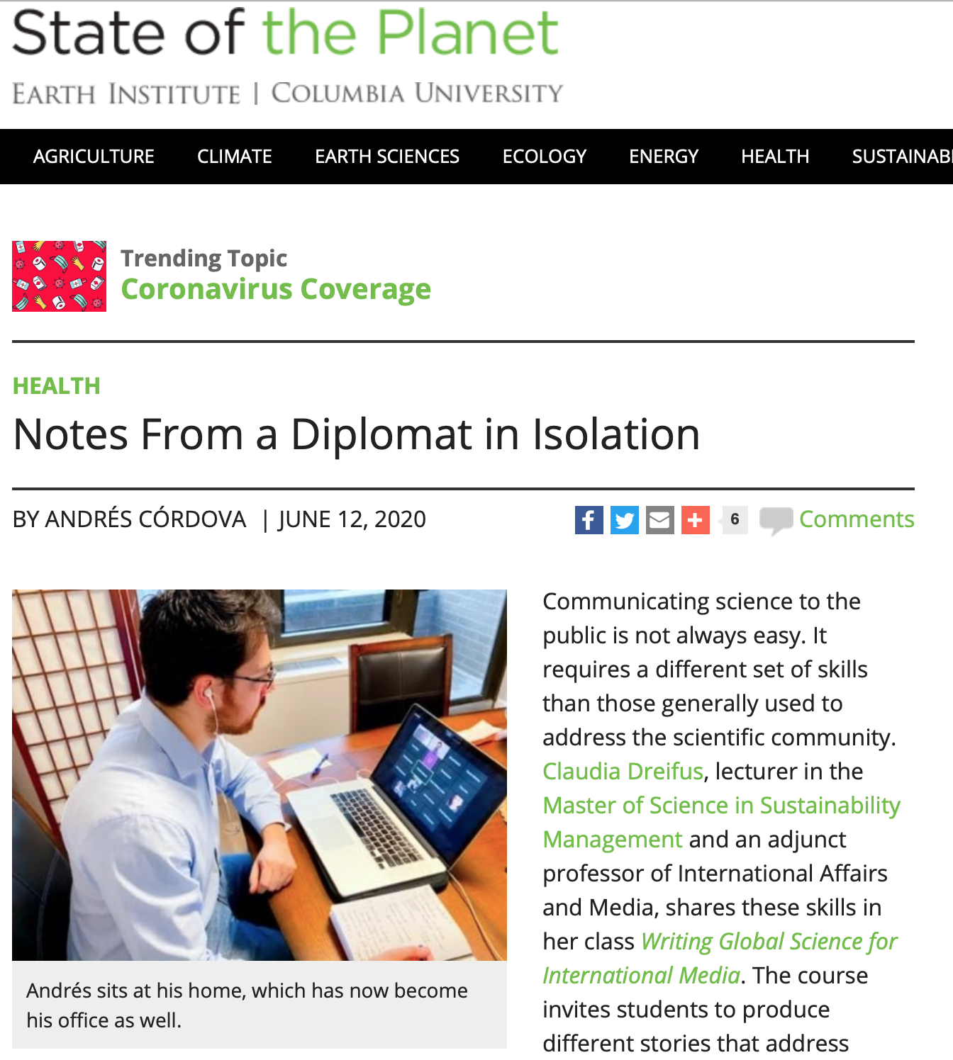 Notes from a Diplomat in Isolation